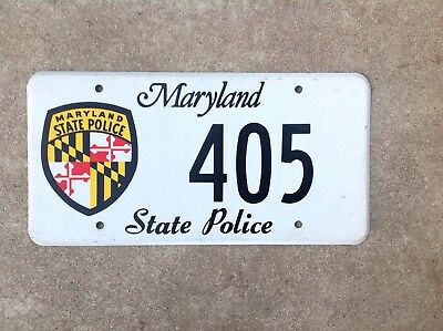 "Maryland - ""state Police"" - License Plate"