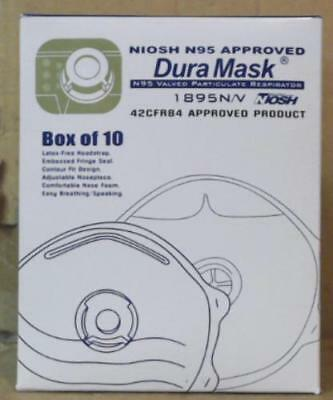 NEW 10pc Liberty Glove & Safety DuraMask 1895N/V Masks w/ Particulate Respirator