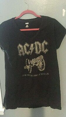 AC/DC Concert t-shirt For Those About  Rock XL black cannon Women's