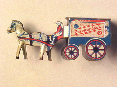 1920-Cracker-Jack-Angelus-Marshmallows-Tin-Litho-Toy-Horse-amp-Wagon-Premium Pri