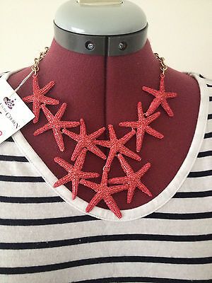 Crown Starfish Coral Necklace.