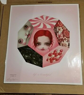 """*SIGNED* Rare Mark Ryden """"Life is Beautiful"""" Lithograph Poster Print brainwash"""