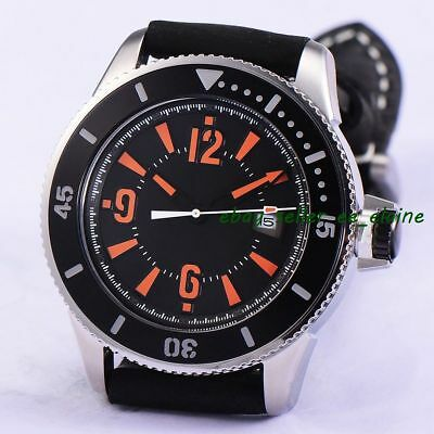 43mm Black Sterile Dial Sub Style Mens Automatic Watch Ceramic Bezel Relojes 02