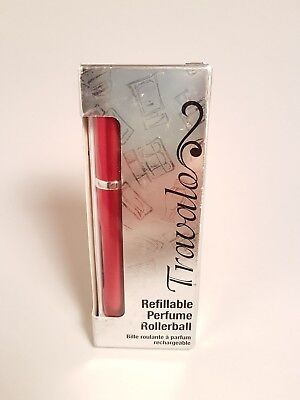 Travalo Refillable Perfume Rollerball Red Brand New No Spills No Funnels