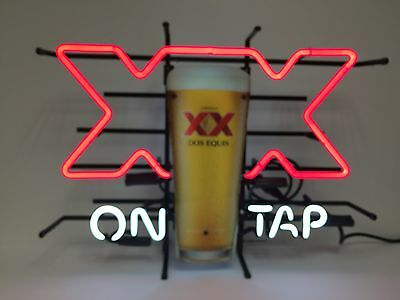 """Dos Equis On Tap Neon Sign XX - NeonPro - Brand New - 24"""" x 17""""  - We Ship Neons"""