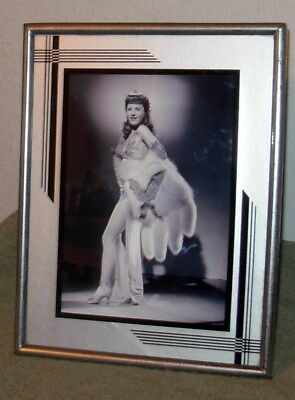 "VTG 1930's ART DECO Era PHOTO/Picture FRAME 5x7"" (4.5"" x 6.5"") Exterior 7x9"""
