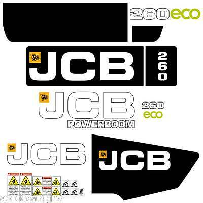 JCB 135 155 175 190 205 225 260 300 330 decals stickers