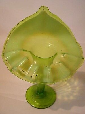 Antique Green Glass Jack in the Pulpit Vase