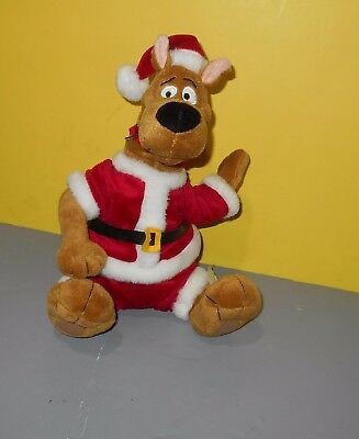 "Scooby-Doo 11"" Animated Christmas Santa Singing Plush by Gemmy"