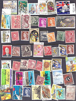 Australia Mixed Lot of mostly pre 1975 stamps as Scan A152