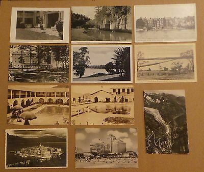 Lot of 11 Vintage Pre-WWII Real Photo / Lithograph Postcards Various USA Locals