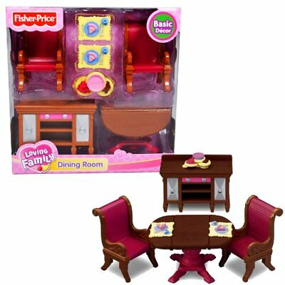 Fisher Price Loving Family Dollhouse Furniture Dining Room