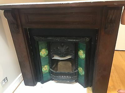 Federation fireplace with red cedar timber mantelpiece