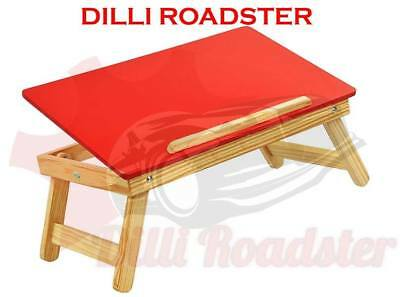 HQ Red/ Blue Multipurpose Wooden Foldable Laptop Table