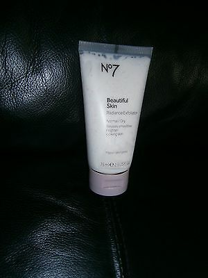 BOOTS No7 Beautiful Skin Radiance Exfoliator Normal/Dry/75ml/HOLIDAYS/BIRTHDAY.