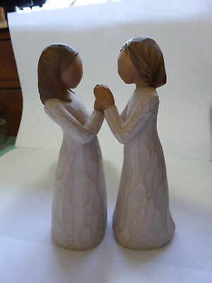 Willow Tree Pair of Figurines. Sisters by Heart. 2000.