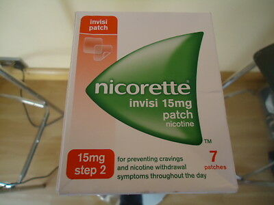Nicorette Invisi 15mg Patch - Step 2 - 7 Patches - BNIB !!!