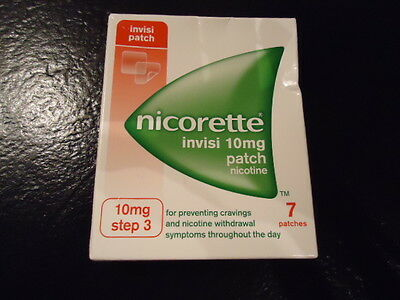Nicorette Invisi 10mg Patch - Step 3 - 7 Patches - BNIB !!!