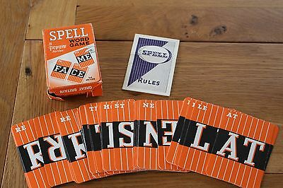 Vintage Pepys Game Cards  Spell Word Game Instructions Vgc Spelling