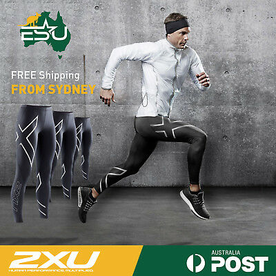 2XU MENS COMPRESSION TIGHTS   AUTHENTIC Long Tights Pants Skins   Size M L XL