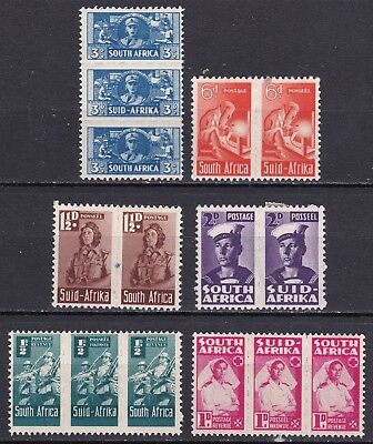 South Africa 1942 part set of 6 units mint hinged