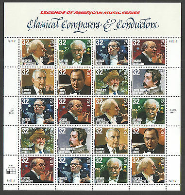 SG 3353/60 USA Classical composers and conductors Mini Sheet unmounted mint
