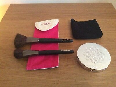 Guerlain Meteorites Compact Powder in 4 Dore/Golden & Guerlain Brush Set