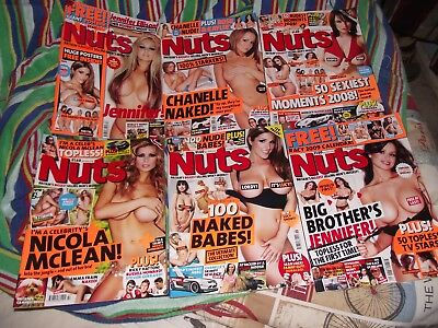 Nuts Magazine 2008 Job Lot of 6 Issues VGC Multiple Choices all P&P Free