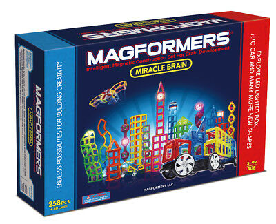 Magformers - Miracle Brain Set - Deluxe (258 Pieces + 40 Cards)