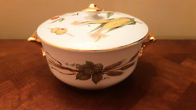 Gold Royal Worcester Evesham Serving Tureen/ Casserole / Oven To Table