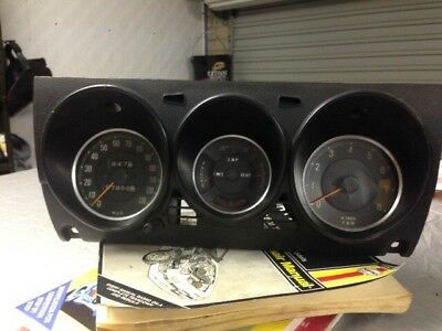 Series 1 Mazda RX2 Rotary Original Instrument Cluster Good Working Condition