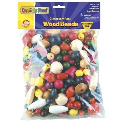 Big Bag of Wood Beads. Chenille Kraft. Shipping Included