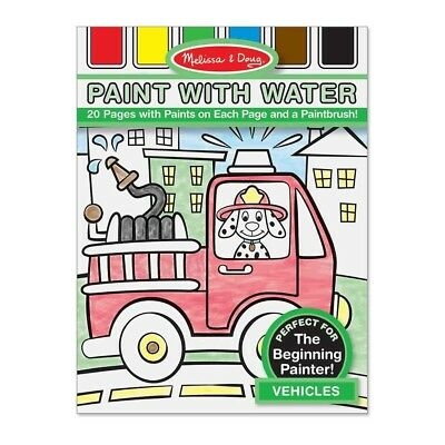 (Vehicles) - Melissa & Doug Paint with Water Vehicles. Free Shipping