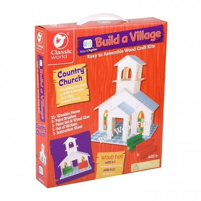 Classic Build A Village Church Building Kit. Delivery is Free