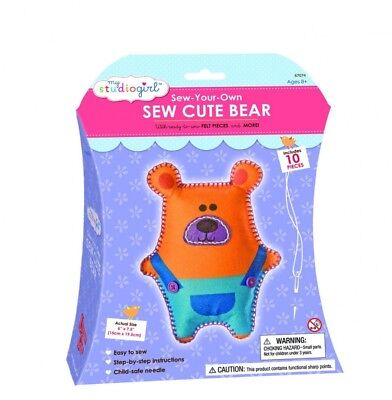 My Studio Girl Sew Cute Kit, Bear. Delivery is Free