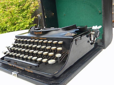 Vintage Imperial Typewriter The Good Companion in case.