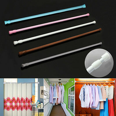 1xMulti-Use Extendable Telescopic Loaded Net Voile Tension Curtain Rail Pole Rod