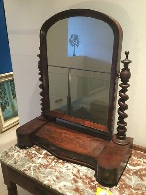 Victorian Mirror Stand With Secret Drawers