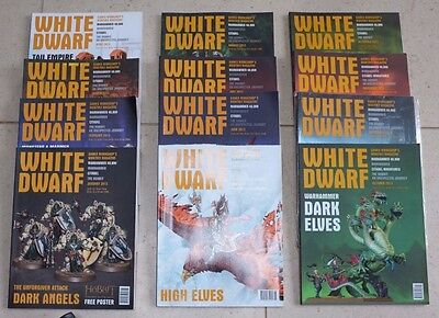 Games Workshop Warhammer White Dwarf 12 Magazines Dec 2012- Dec 2013
