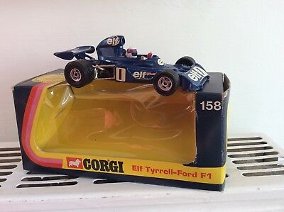 1974 Corgi 158 Elf Tyrrell Ford F1 Racing Car Boxed