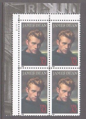 USA 1996 James Dean mint unhinged block 4 stamps.