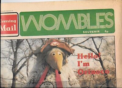 vintage Evening Mail Wombles special newspaper Sept 23rd 1974