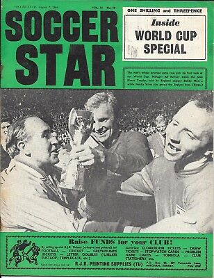 vintage Soccer Star magazine Vol 14 No 47 Aug 5th 1966 World Cup special