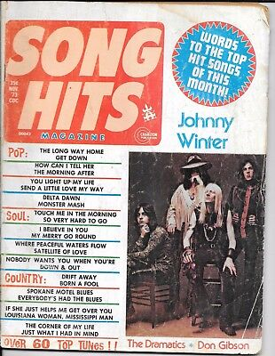 vintage Song Hits lyric magazines x2 issues from 1973 + 1976