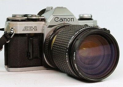 Vintage Canon AE-1 Body With Canon 35-105mm Zoom Lens,  Working.