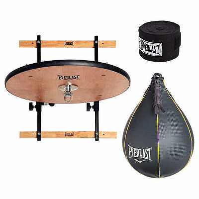Adjustable Speed Bag Platform and Speed Bag and Hand Wrap Bundle
