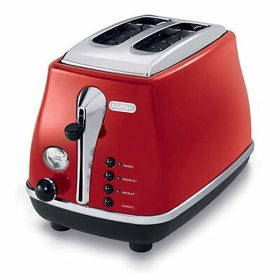 Brand New Delonghi CTO2003R Icona Toaster, Red