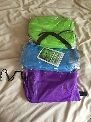 Purple,green,sky blue Lazy Lounger Inflatable Bed Sofa Lay Hangout Camping X3