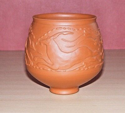 Superb Quality Ancient Roman Hunt Cup Samian Ware Replica, 2 Dogs Chasing A Stag