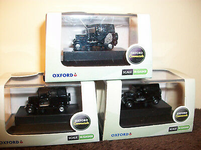 N Gauge Oxford  Collection X 3 New Boxed Nat001 Black Austin Taxi